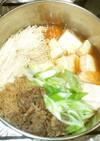 基本の肉豆腐♪簡単牛肉・えのき・豆腐
