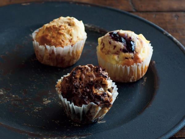 ブルーベリージャム&クリームチーズのマフィン(写真右)