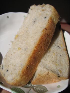 ホシノ天然酵母で 玄米&ライ麦&黒豆パン