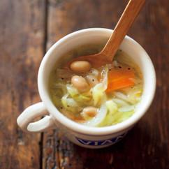 大豆とキャベツのスープ