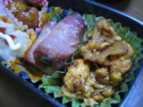 お弁当に。豚とたまごのケチャップ炒め♪