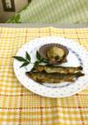 ヒオウギ貝の蒸し焼き/アユの甘露煮