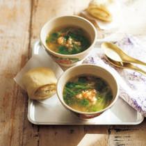 エビとクレソンのスープ