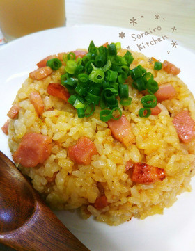 ★マヨパワー★卵いらずな簡単パラパラ炒飯