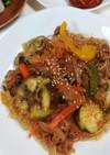 エバラ焼き肉のタレで茄子入りチャプチェ