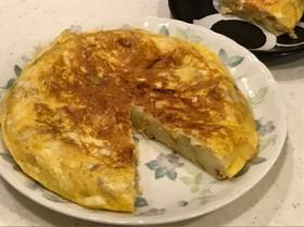 シーチキン、チーズのスパニッシュオムレツ