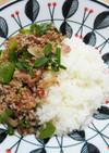 ラープ(ラオス風挽き肉サラダ)丼