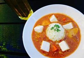 お豆腐トッピングカレー