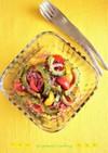 揚げゴーヤと紫玉ねぎのスリランカ風サラダ