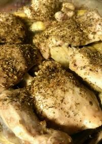 鶏もも肉とアーティチョークのオーブン焼き