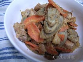 やばウマ☆鶏肉とごぼうのゴマ味噌炒め