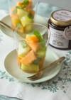 メロンとミントのハーブコーディアルマリネ