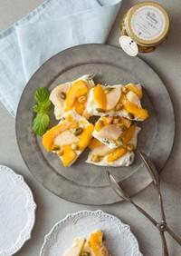桃とマンゴーのヨーグルトバーク