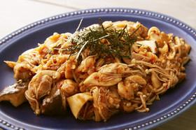きのこと鶏肉の韓国風マリネ