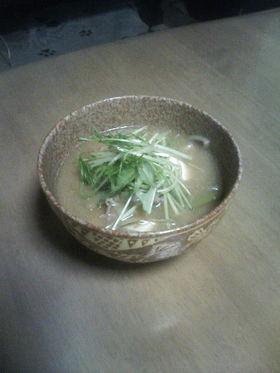 今日も鍋の野菜の残りで・・^^;