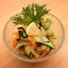 さっぱり野菜の塩昆布レモン