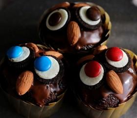 簡単☆ハロウィンのフクロウカップケーキ