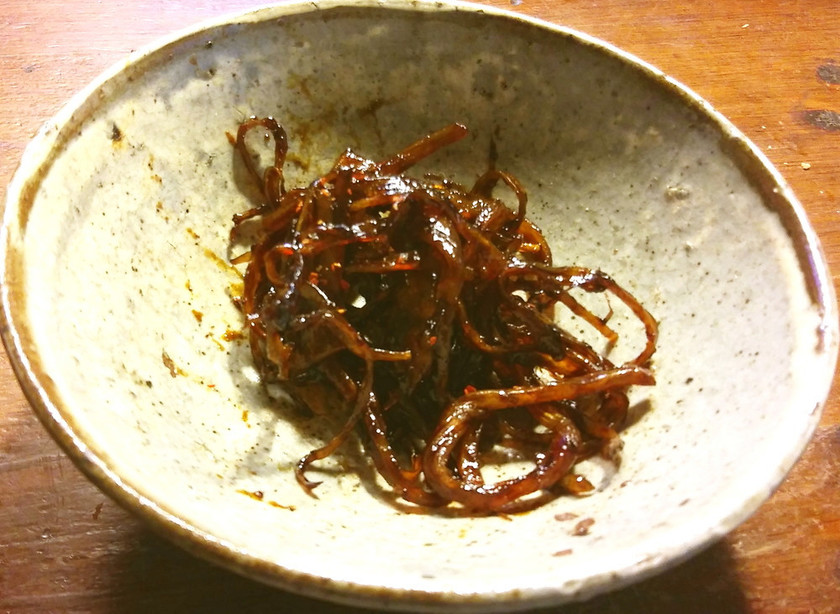 さきいかで昭和の駄菓子屋さんのソースイカ