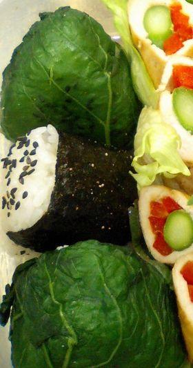 広島菜おむすび♪