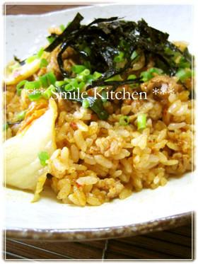 激ウマd(。ゝェ・´)キムチ納豆炒飯♪