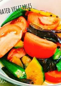 簡単☆焼き夏野菜の甘酸っぱいマリネ