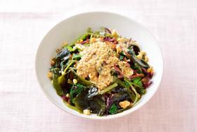 クルミと海藻サラダ