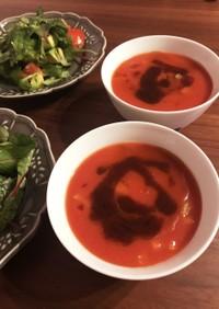 有機トマトジュースで作る簡単ガスパチョ