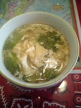 パパッと簡単♪レタススープ