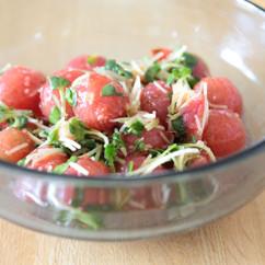 プチトマトの薬味和え
