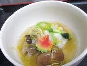 鯛の蓮根菊花蒸しの写真
