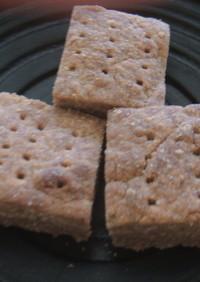魚焼きグリルで。はったい粉のクッキー