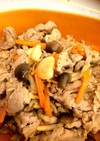 簡単☆焼肉のタレで豚小間とキノコの炒め物