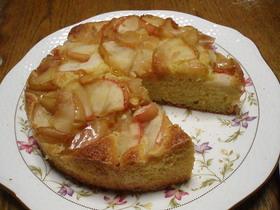 黒酢煮りんごのバターケーキ