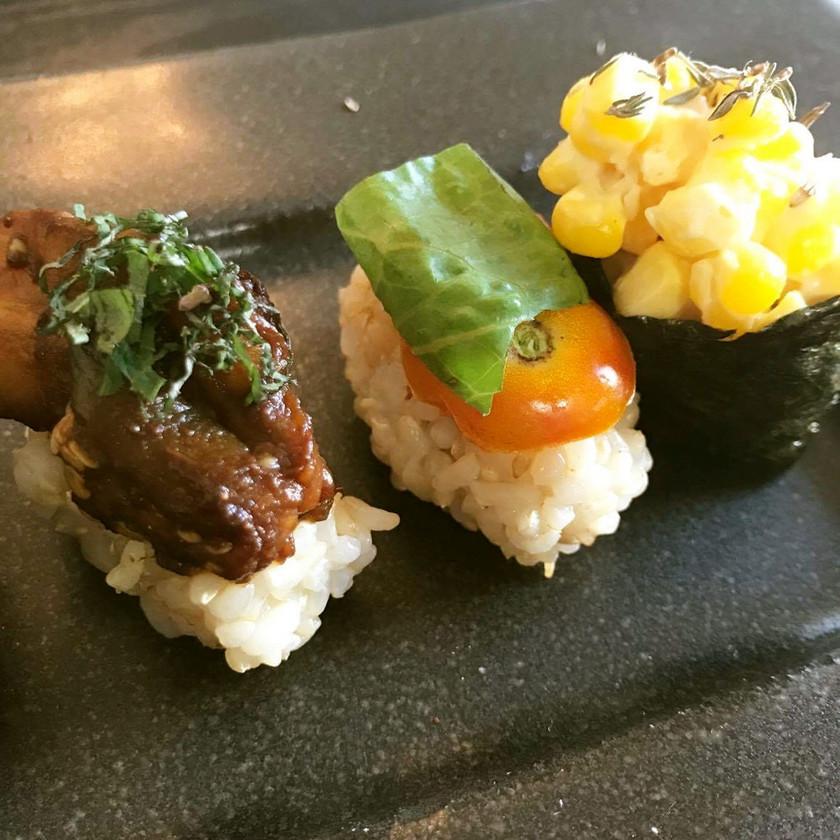 焼き茄子と八丁味噌の重陽寿司