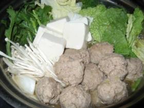 うちの贅沢☆鴨肉団子のお鍋