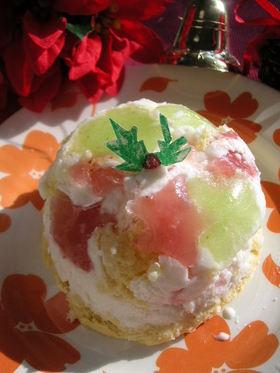 フローズンヨーグルトのアイスケーキ