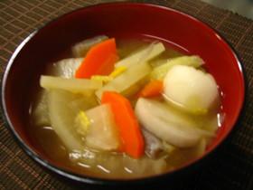 白菜と根野菜の味噌汁