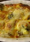牡蠣と里芋の味噌グラタン