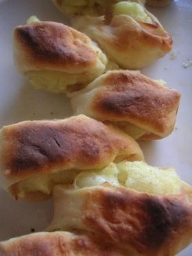 オーブントースターで♪ハムポテトエピ