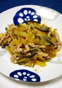 簡単!ピリ辛☆スイカの皮と茄子味噌炒
