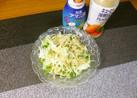 キャベツと貝割れのサラダ(*^^)v