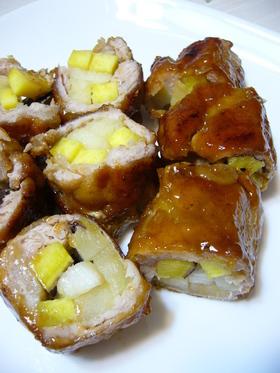 りんご酢で豚巻きさっぱり煮:レオン亭
