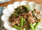 ご飯がススム☆野沢菜と豚肉ソテー