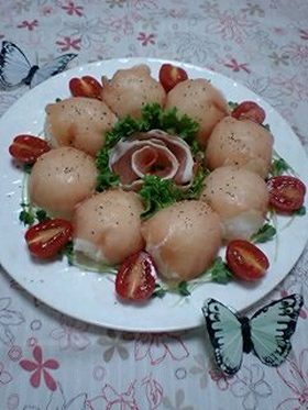 アボガドと生ハムの手まり寿司
