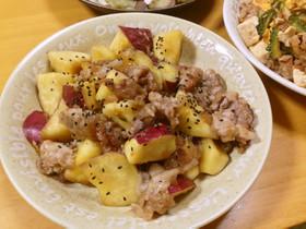 さつまいもと豚肉のメープル甘酢