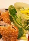 簡単揚げ物!シソの葉とチーズカツ