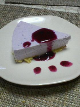 ブルーベリーの豆乳レアチーズケーキ