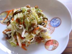 納豆としらすのおつまみキャベツサラダ