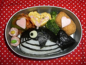 クジラのおにぎり弁当☆キャラ弁
