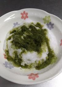 糖質オフ✨かき氷の手作り抹茶シロップ♪